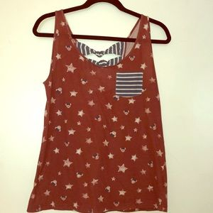 Minnie Mouse Patriotic Tank